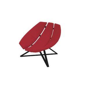 FAUTEUIL Fauteuil design RADAR rotatif en vinyl rouge avec