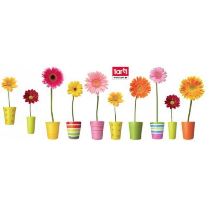 Fleurs sticker adh sif fen tres autocollant f achat for Decoration adhesif fenetre