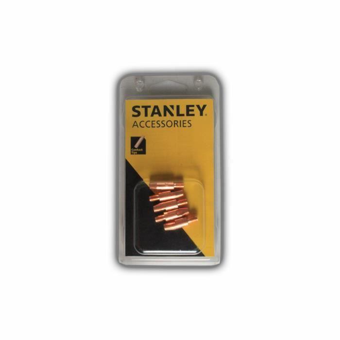 STANLEY 460606 Lot de 10 Tubes pour torche de soudure MIG - Ø 0,6