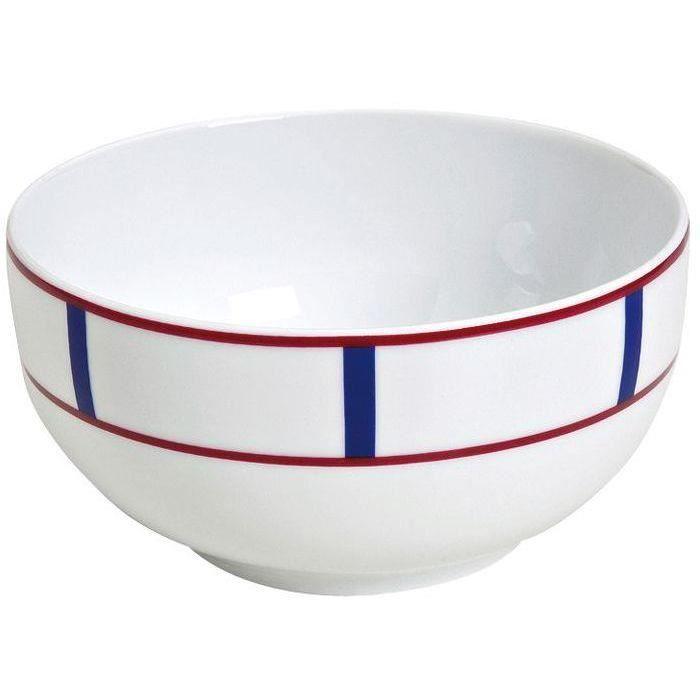 Bol 50cl porcelaine Basque bleu et rouge