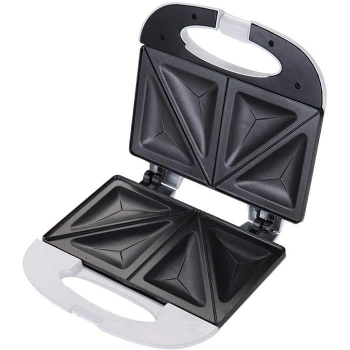 GAUFRIER Gaufrier Panini Appareil Croque Monsieur Machine À Sandwich Portable Chauffante Double Face Plaque358