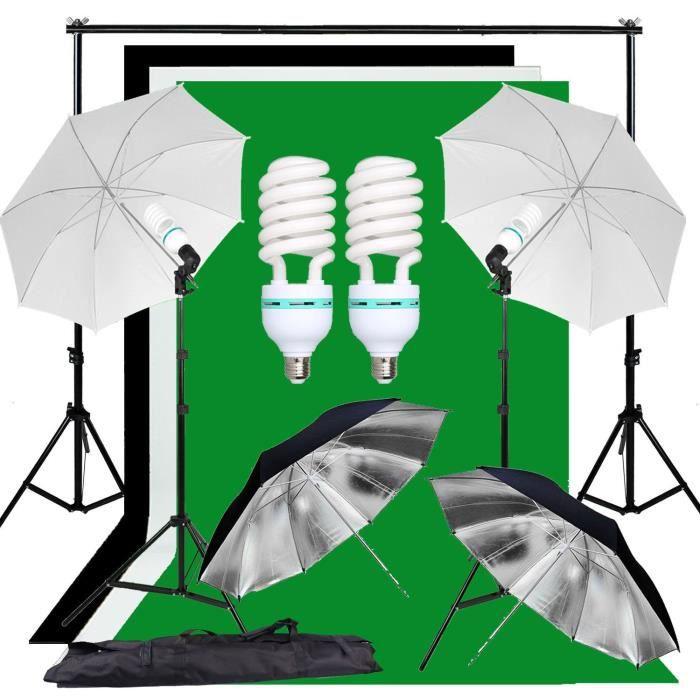 Abeststudio Studio Kit d'éclairage de parapluie souple Backdrop Studio + Support de fond