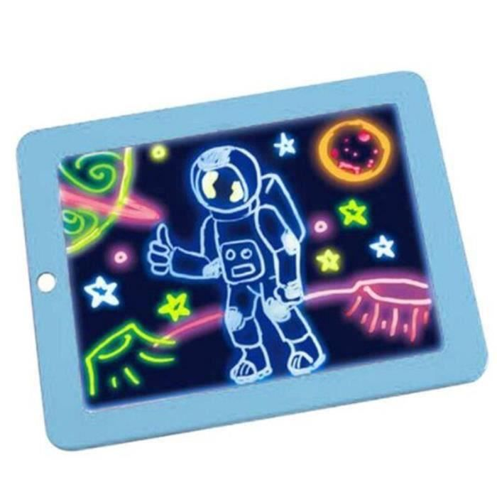 3D Magic Drawing Board 8 Light Effect Puzzle Board 3D Drawing Board Creative Tablet PC Kids Pen Gift LED Light Luminous Art Painting
