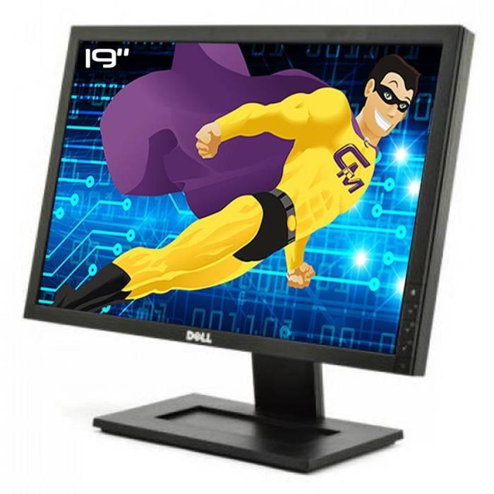 Ecran Plat PC 19- DELL E1911c 0W6VPJ W6VPJ LCD TFT TN VGA DVI-D 16:10 WideScreen