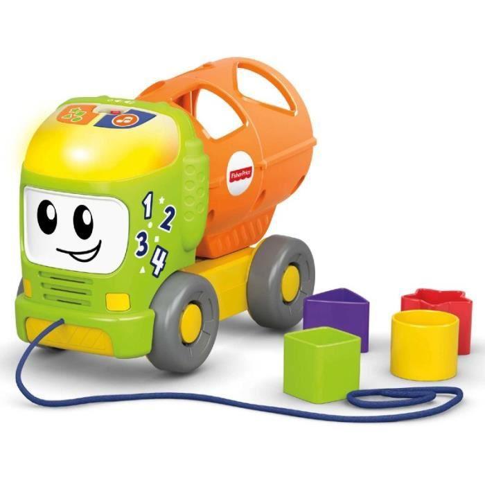 Fisher Price - Camion d'apprentissage coloré pour bébés - Langue Allemand