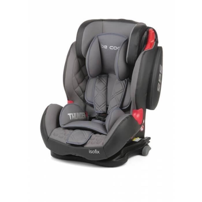 BE COOL Siège auto Thunder groupe 1/2/3 Isofix Moonlight - gris