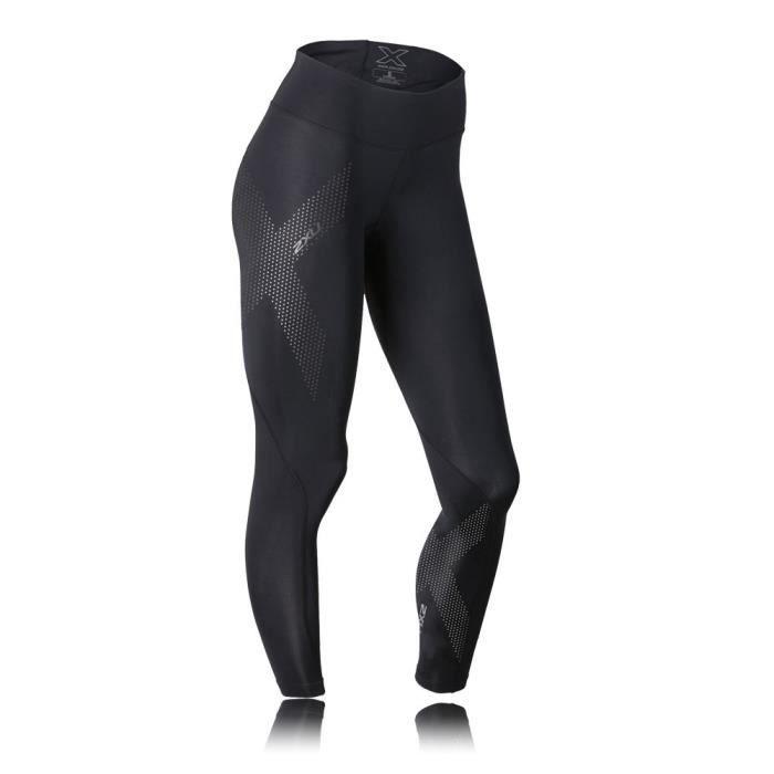 2Xu Femmes Noir Mid Rise Collants De Course Compression Gym Sport Leggings