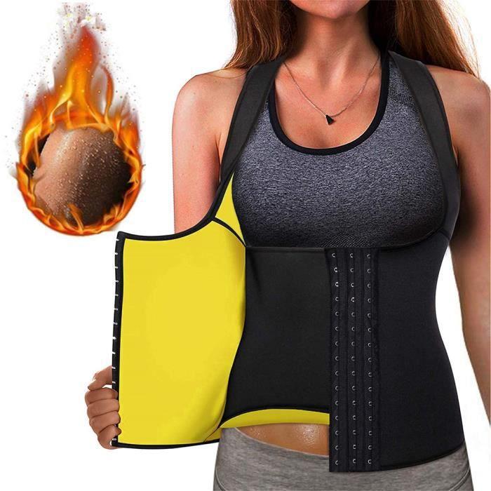 SURENHAP Débardeur Gilet Vest Corset de sudation Femme Combinaison Vêtement en néoprène amincissant Body Shaper