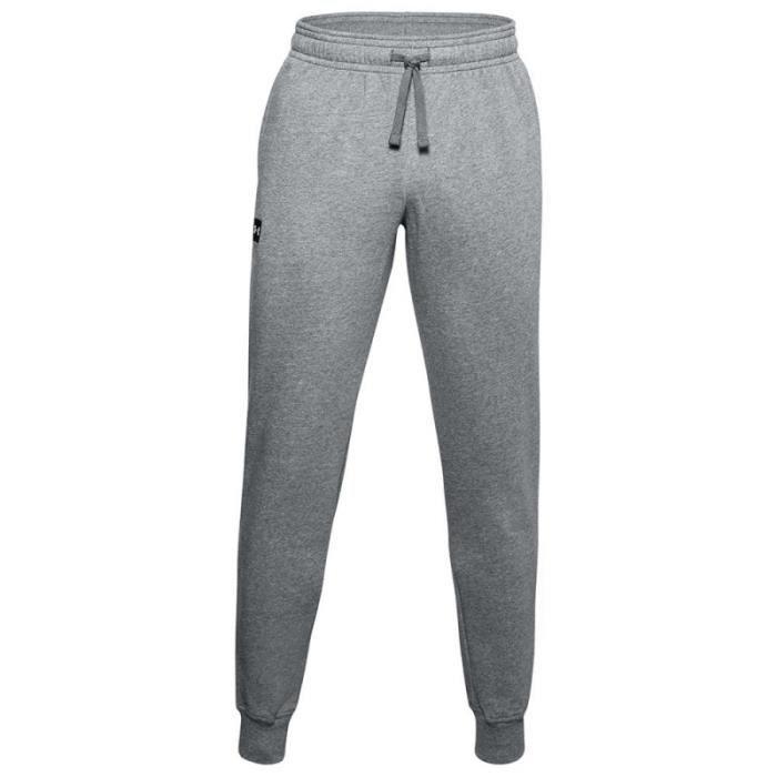 Pantalon de survêtement Under Armour RIVAL FLEECE - Réf. 1357128-012. Couleur : Gris. Détails. - Coupe plus ample pour un confort