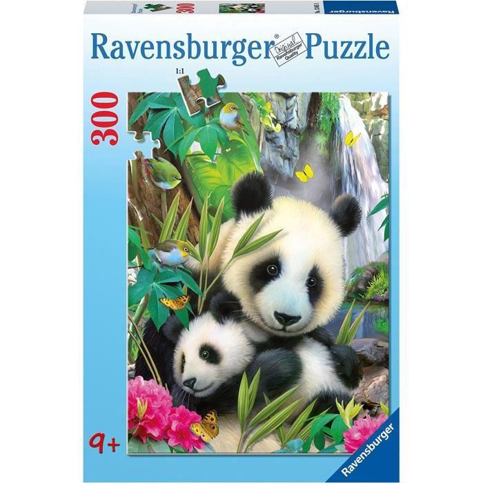 Puzzle 300 pièces XXL - Charmants pandas - Ravensburger - Puzzle Enfant 300 pièces - Dès 9 ans