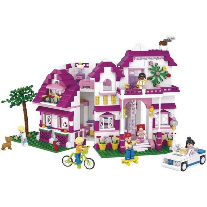 Briques Compatibles Lego - Construction - Rêve de fille - - Grand Villa - Sluban