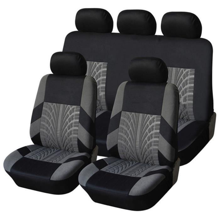 Housse de Siège Auto Universelle coussins pour Siège Voiture,auto Protecteur de siège, Couvre Siège voiture - Gris05
