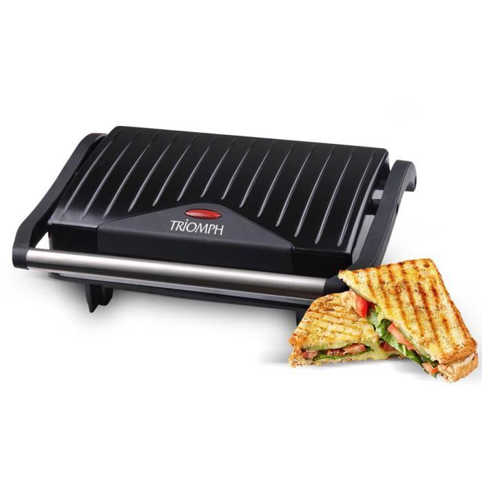 Grill électrique spécial panini 750W - Triomph ETF1803