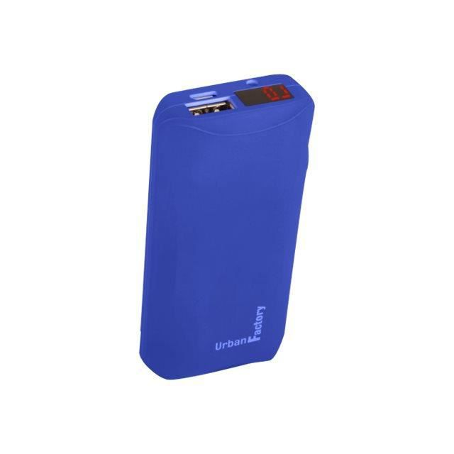 URBAN FACTORY Batterie secours 6000mAh - Bleu