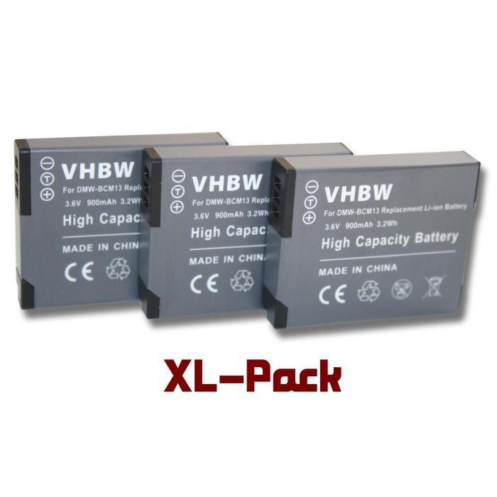 Batterie de secours pour Panasonic Lumix DMC-FT5, DMC-TS5, DMC-TZ40, DMC-TZ41, DMC-TZ56, DMC-TZ61, DMC-ZS30 - Remplace : DMW-BCM1…
