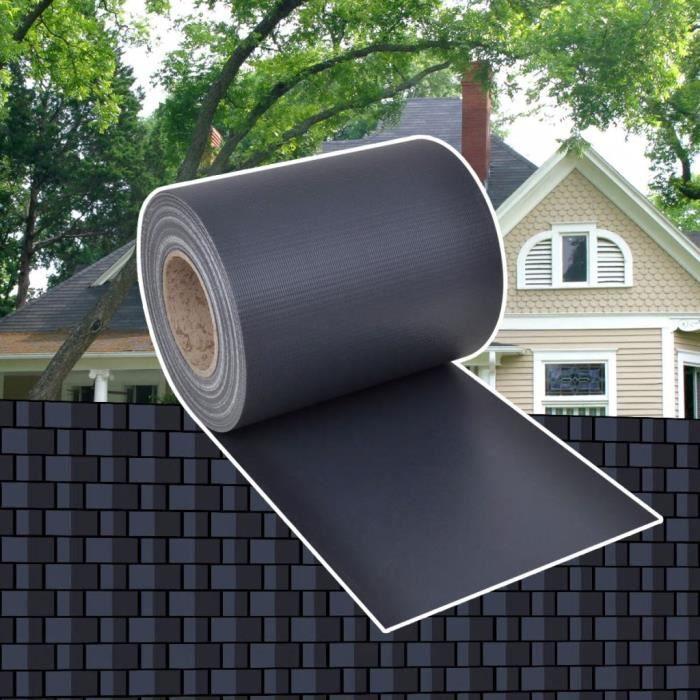 Brise-vue pour clôture en PVC gris foncé en rouleau 70 x 0,19 m Gris