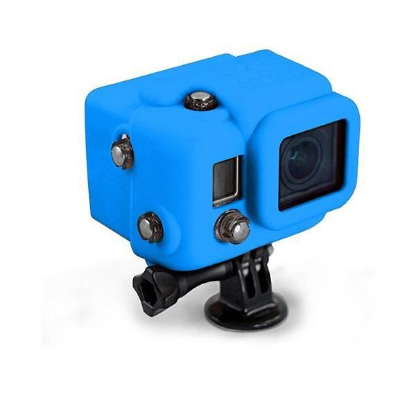 XSORIES Housse en silicone avec Capuche pour GoPro HD Hero3 - Bleu