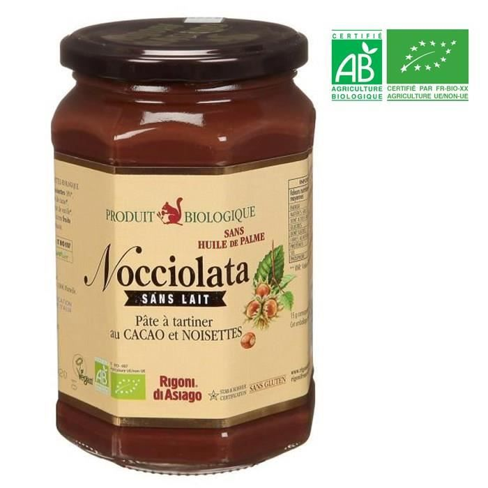NOCCIOLATA Pâte à tartiner chocolat sans lait BIO 700 g