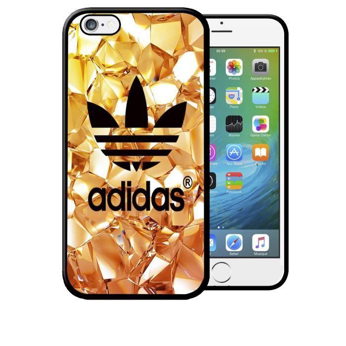 coque iphone 8 plus adidas gold effet or diamants