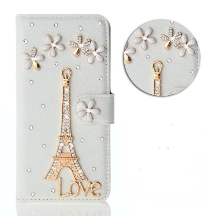 Etui Samsung Galaxy J5 PRIME.blanc tour Eiffel Par