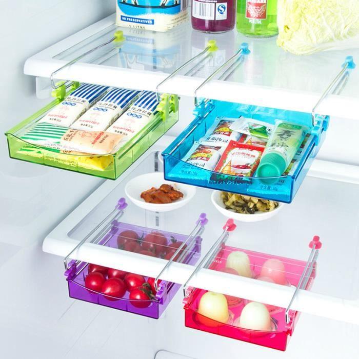Plastique Réfrigérateur oeufs Boîte de rangement 10 oeufs titulaire de stockage de denrées alimentaires Case G