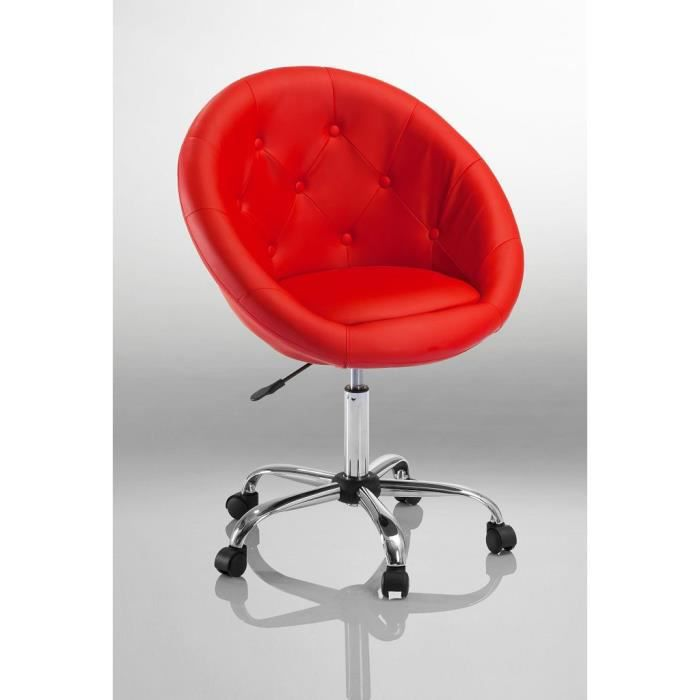 tabouret chaise fauteuil bureau roulette rouge achat. Black Bedroom Furniture Sets. Home Design Ideas