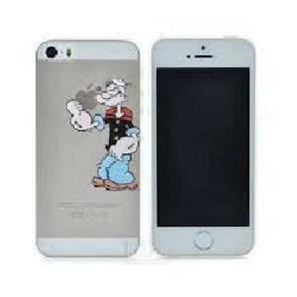 coque iphone 5c transparente popeye tient la pomme