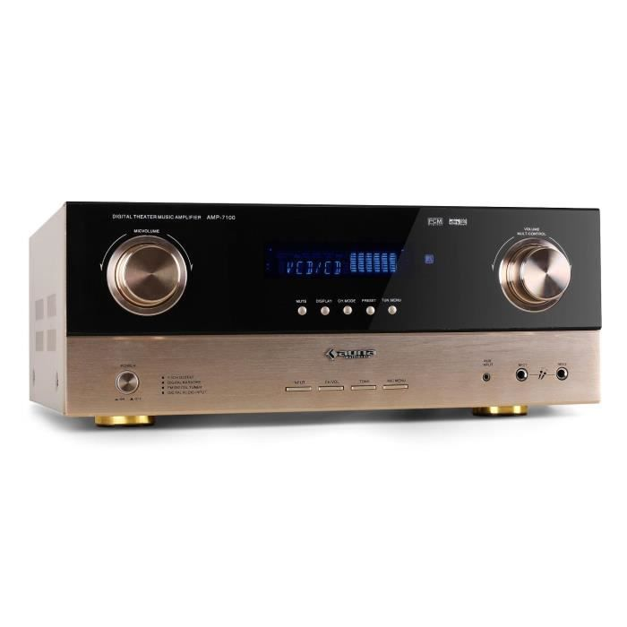 AMPLI HOME CINÉMA auna Amplificateur surround hybride pour HiFi , PA
