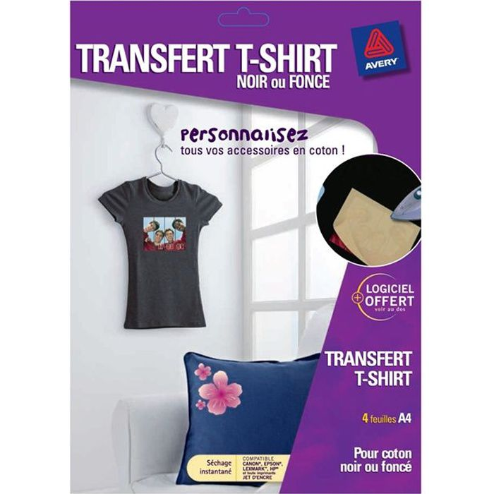 avery 4 transferts t shirt prix pas cher cdiscount. Black Bedroom Furniture Sets. Home Design Ideas