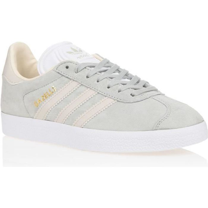 ADIDAS ORIGINALS Baskets Gazelle - Femme - Gris et écru