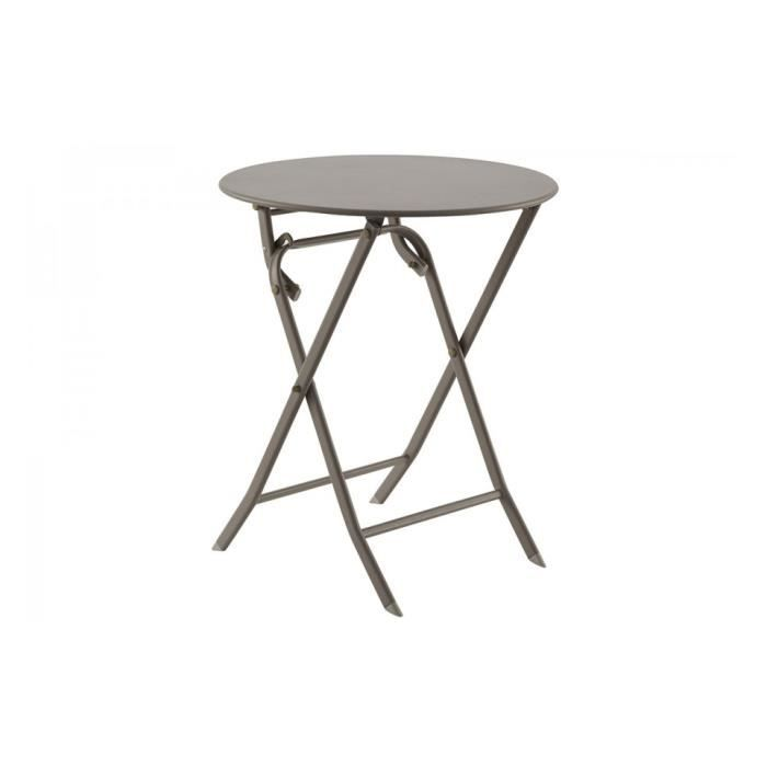Table greensboro ronde 60cm achat vente table de for Table exterieur largeur 60
