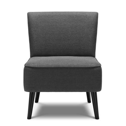 fauteuil contemporain assise large et confortable gris achat vente fauteuil gris cdiscount. Black Bedroom Furniture Sets. Home Design Ideas