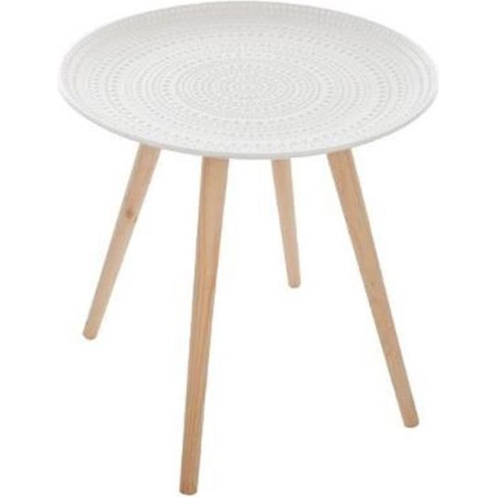 Table basse Nomade ronde Mileo blanche - Achat / Vente table basse ...