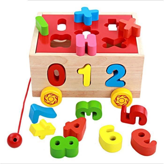 CUBE ÉVEIL 1PCS Jouets de Puzzle en Bois Cubique  Chiffres et