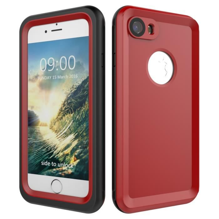 coque etanche iphone 8 rouge