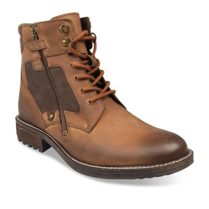 MOUNTAIN Homme Marron Chaussea Bottines CAPE CUIR MARRON fyvb6Y7g