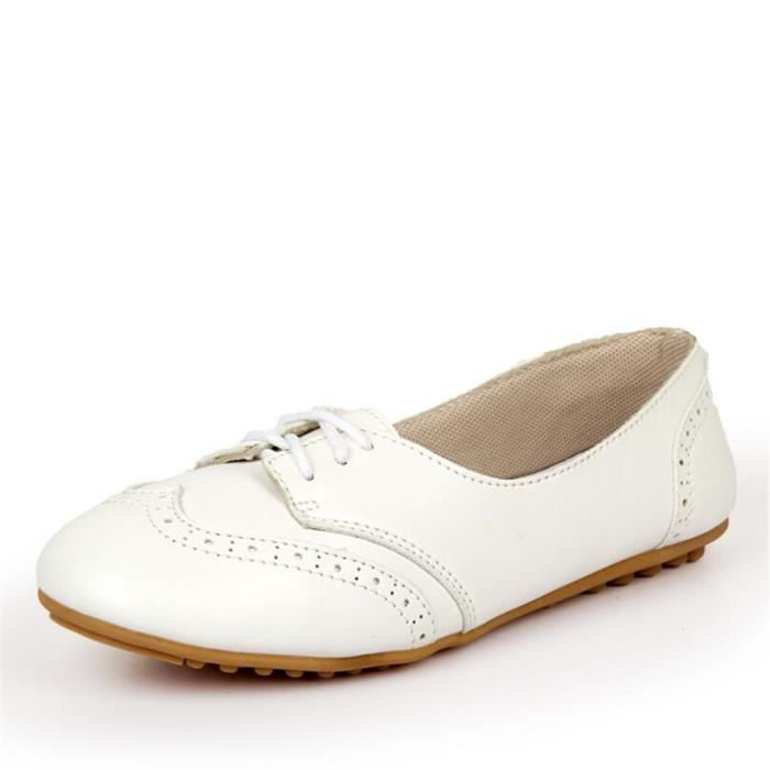 Chaussures Femmes Cuir Occasionnelles Leger Chaussure BWYS-XZ043Blanc40