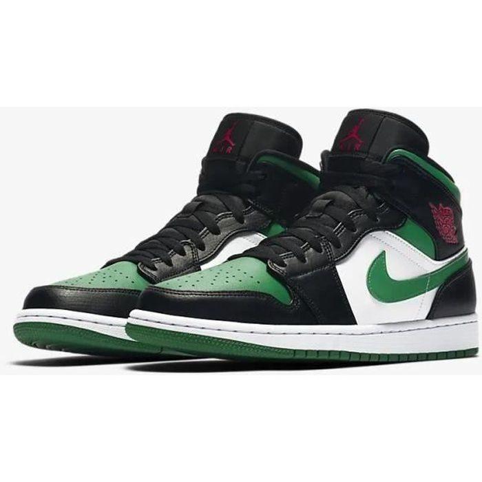 Air jordan 1 vert et noir - Cdiscount