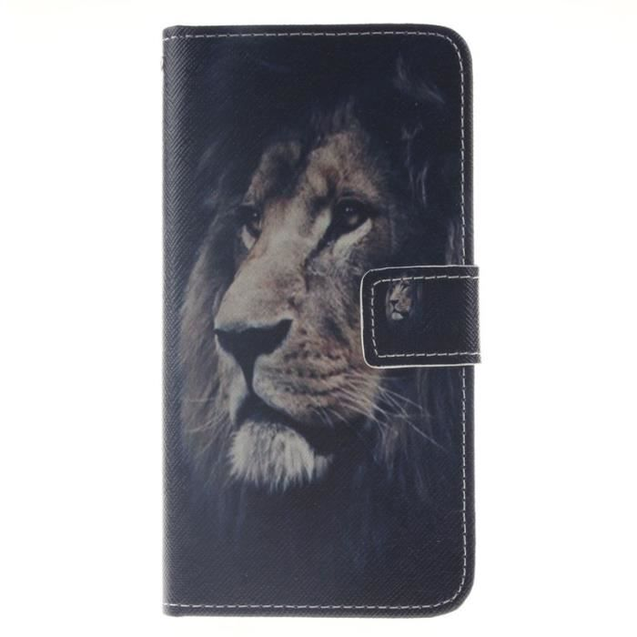 Etui housse huawei honor 5x lion visage housse pochette for Housse honor 5x
