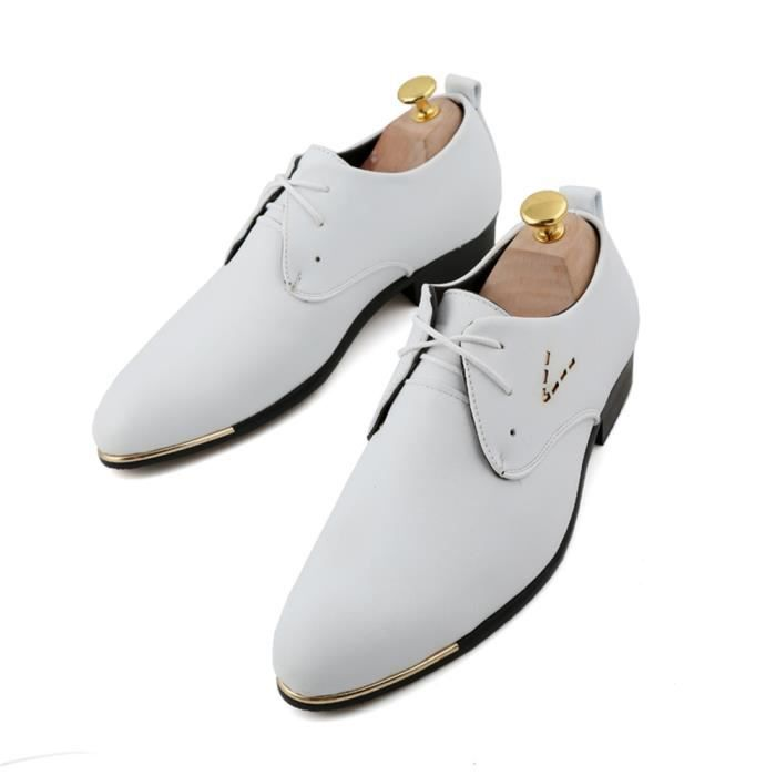Formel Cuir Homme Homme Cuir Chaussures Mocassin Blanc Mocassin Flats W6YqvtUwp