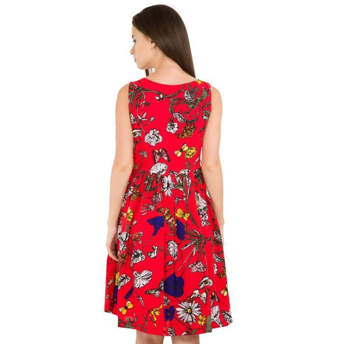Womens Casual Red Dress ZKU4Q Taille-38