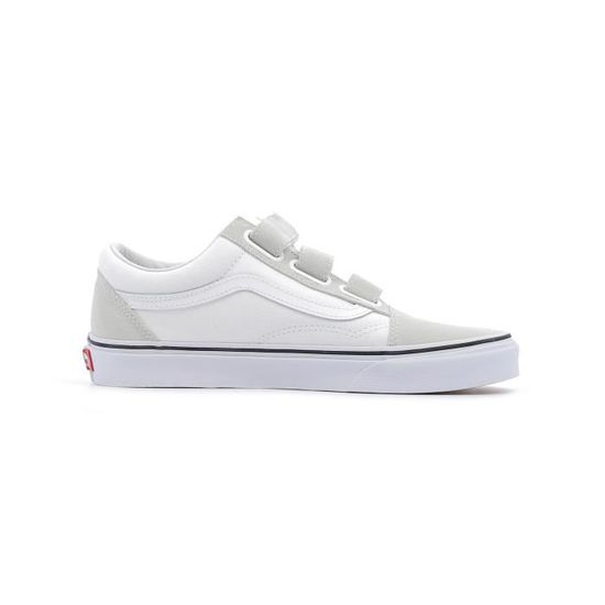 Baskets basses Vans UA Old Skool V coloris true white Blanc