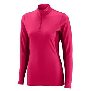 MIZUNO T-shirt Manches Longues Col 1/2 Zip Femme RNG
