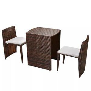 SALON DE JARDIN  5pcs Ensemble de Mobilier d'extérieur avec 1 Table