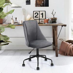 CHAISE DE BUREAU Chaise de bureau Siège Ergonomique Tissu Velours M