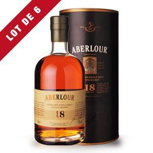 WHISKY BOURBON SCOTCH 6x Aberlour 18 ans - Coffret - 6x50cl - Single Mal