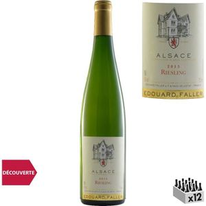 VIN BLANC Domaine Edouard Faller Riesling Alsace Blanc 2015