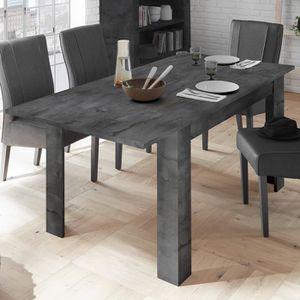 TABLE À MANGER SEULE Table extensible grise couleur béton DOMINOS 4 L 1