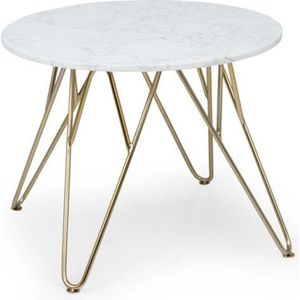TABLE BASSE Besoa Round Pearl Table basse de salon ronde 55 x