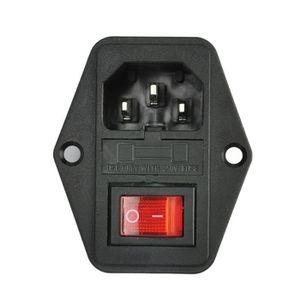 3PIN UK Plug secteur prise électrique avec interrupteur 13 A 250 V Neon Indicateur Lumière Nouveau
